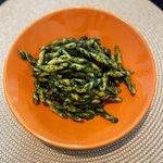 Pasta alla crema di spinaci e guanciale