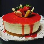 Cheesecake classica con gelee di fragole