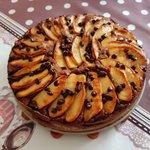Torta di mele, cioccolato e amaretti