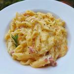 Pasta Patate e Provola (con pancetta e rosmarino)