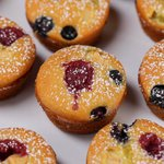 Muffin di pancake alla frutta