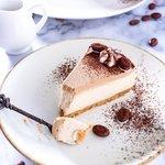 Cheesecake senza cottura al caffè