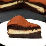 Torta 3 tempi al cioccolato e ricotta