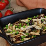 Insalata di pollo e verdure estive