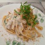 Tagliatelle con gorgonzola rucola e noci