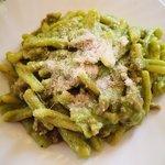 Casarecce crema di patate, broccoli e salsiccia