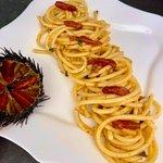 Spaghetti alla chitarra con ricci di mare