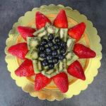 Crostata di frutta e crema pasticcera al pistacchio