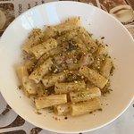 Pasta delle tre P: pancetta, panna e pistacchio