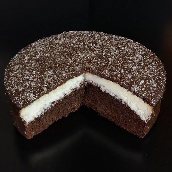 Ricetta Torta Al Cioccolato E Cocco.Torta Doppia Con Cocco E Cioccolato Al Ta Cucina