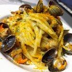 Spaghettone con Arselle Cuore e Bottarga