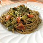 Spaghetti bicolore