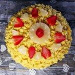 Torta mimosa Ananas e fragole 🍍🍓