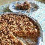 Torta sbriciolata con mele e banane