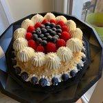 Angel Cake con frutti di bosco