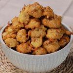 Frittelle patate e guanciale in bottiglia