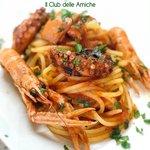 Spaghettoni con zuppa di pesce