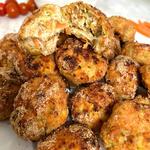 Polpette di pollo e verdure al forno