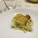 Sartù di riso con zucchine e provola