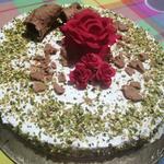 Torta cannolo scomposto con ricotta e pistacchi e panna 👩🍳