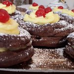 Zeppole San Giuseppe al cacao