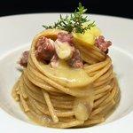 Spaghetti integrali con polpo e patate