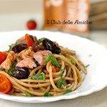 Spaghetti integrali al tonno rosso fresco