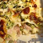 Lasagne con zucchine, prosciutto, provola