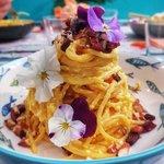 Spaghetti ricotta e zafferano
