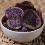 Chips di patate viola