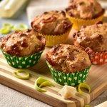 Muffin porri e pancetta