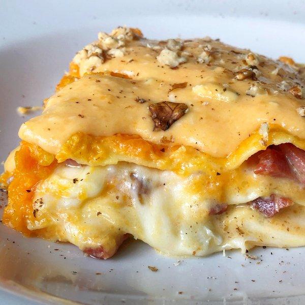 Ricetta Lasagne Di Zucca.Lasagne Alla Zucca Al Ta Cucina