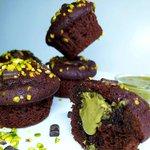 Muffin con cuore al pistacchio
