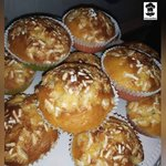 Muffin ricoperti da granella di zucchero